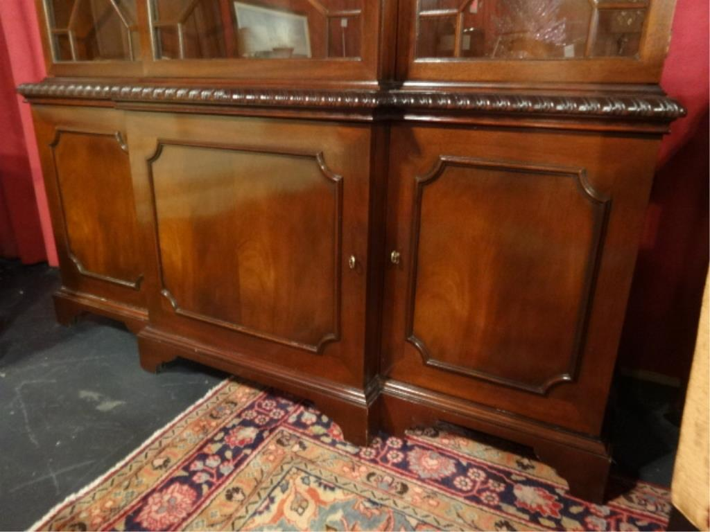 51bidlive baker furniture mahogany breakfront historic charleston