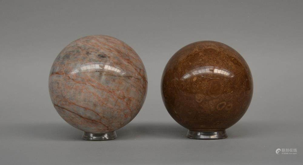 Decorative Marble Balls Simple 51Bidlivetwo Decorative Marble Balls On Acrylic Bases Inspiration