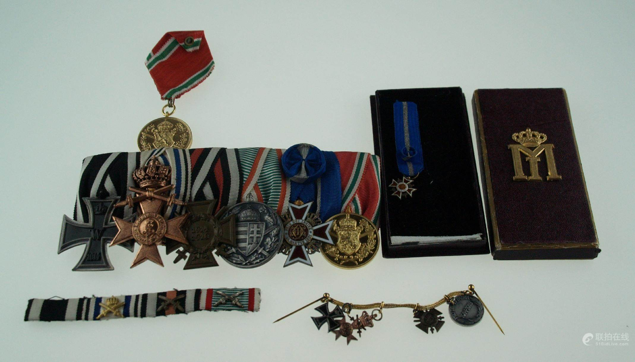 51BidLive-[WWI Badges and Decorations - medal clasp with six