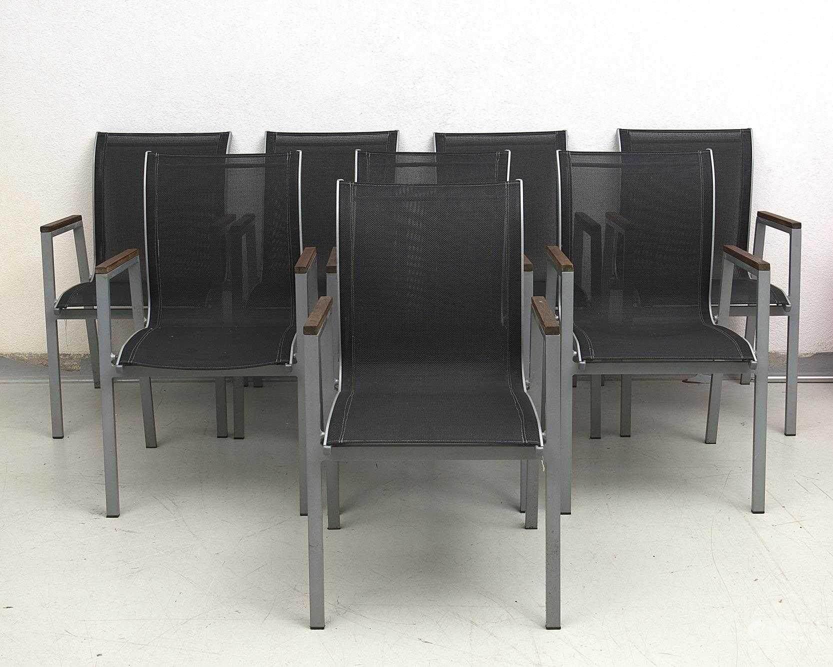 51BidLive [Ensemble de 8 fauteuils empilables de salon de jardin