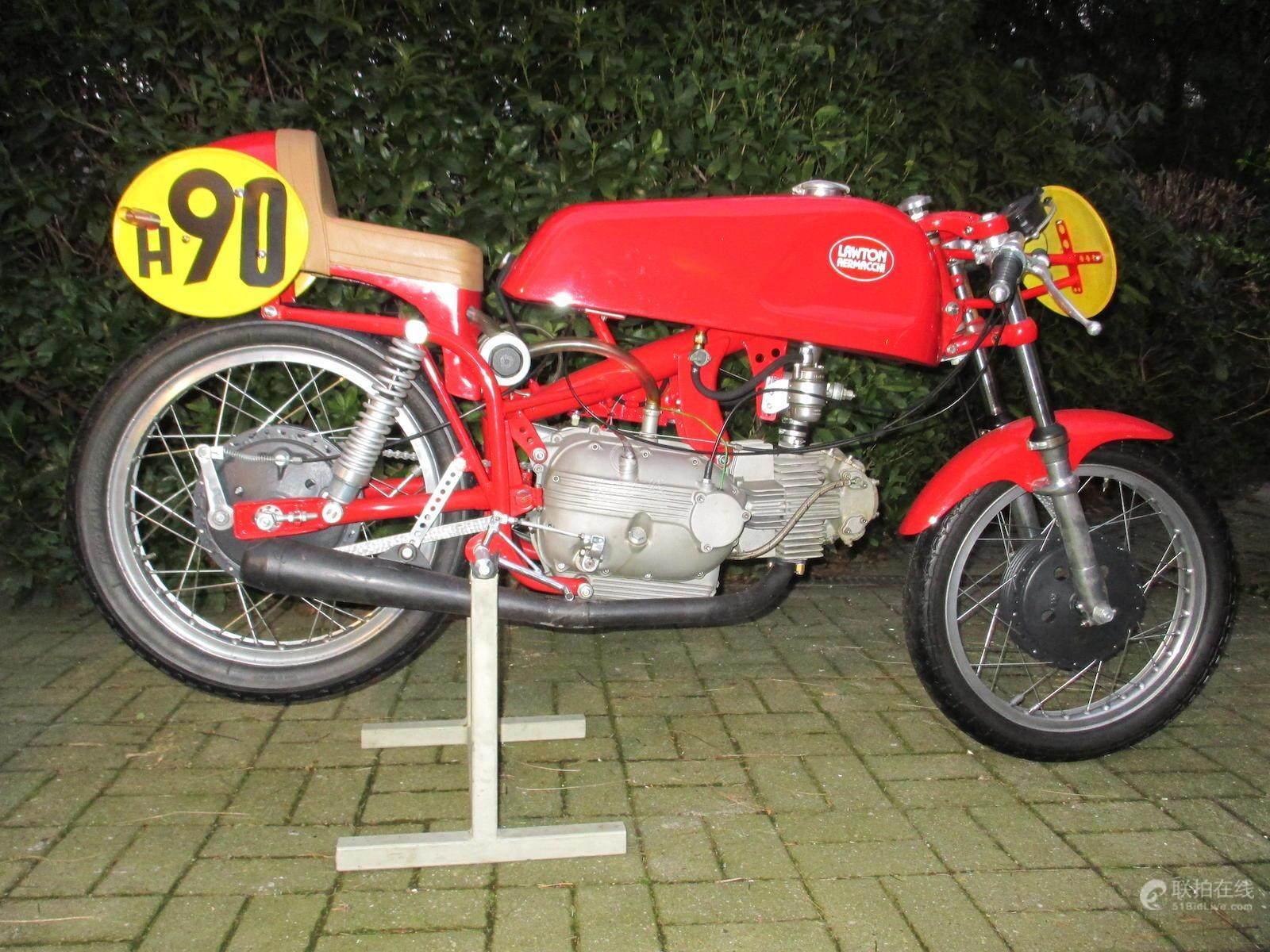 51BidLive-['Lawton' Aermacchi 249cc Racing Motorcycle Frame