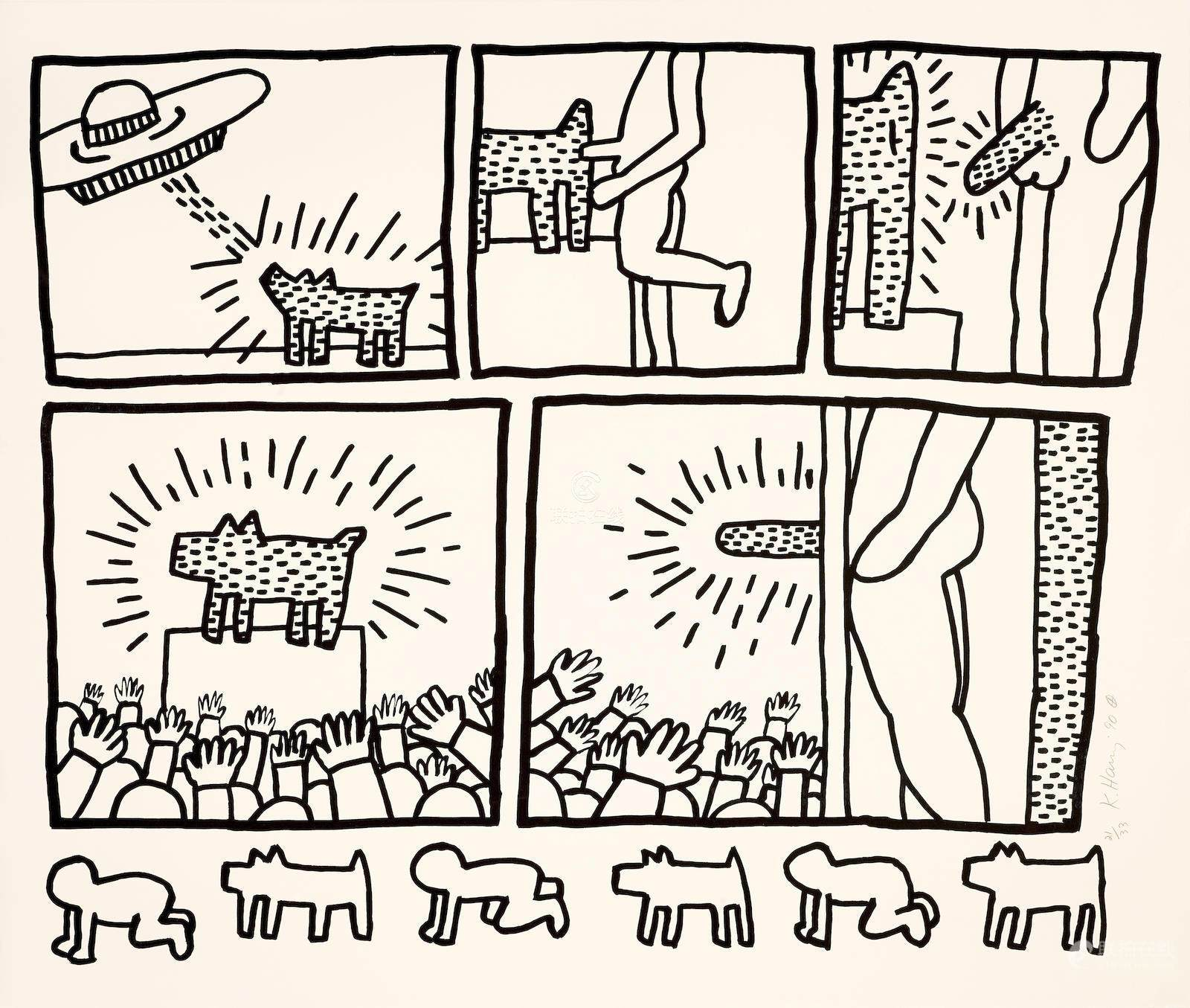 51bidlive keith haring 1958 1990 untitled from the blueprint keith haring 1958 1990 untitled from the blueprint drawings malvernweather Image collections