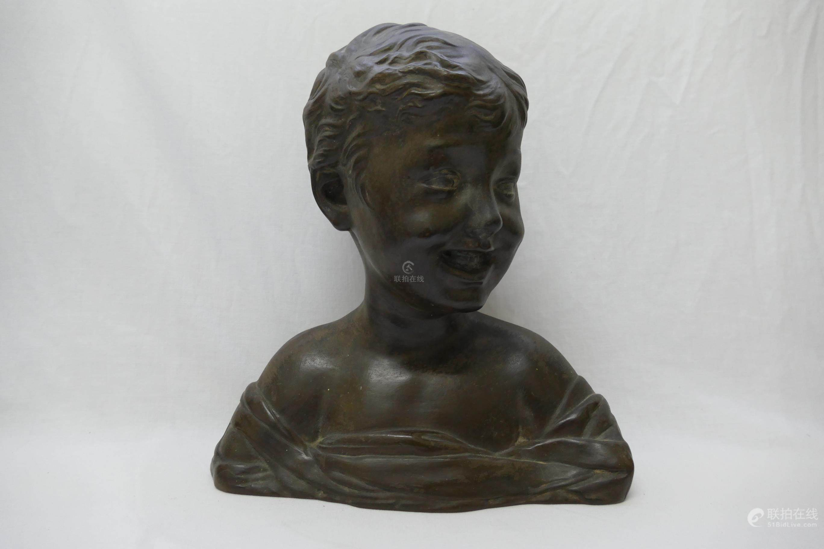 51BidLive-[ An Italian terracotta bust of the head of a child by ...