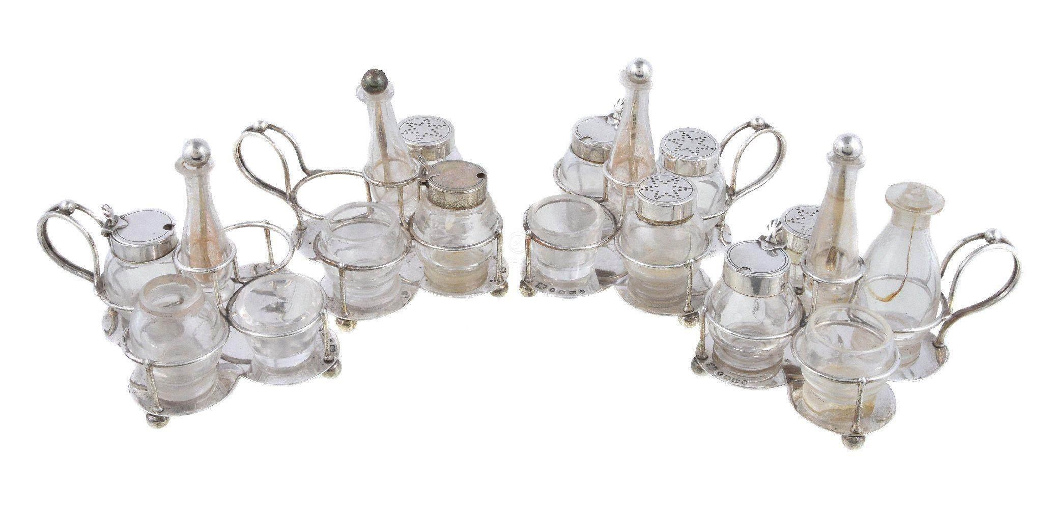 51bidlive a set of four victorian silver quatrefoil cruet frames