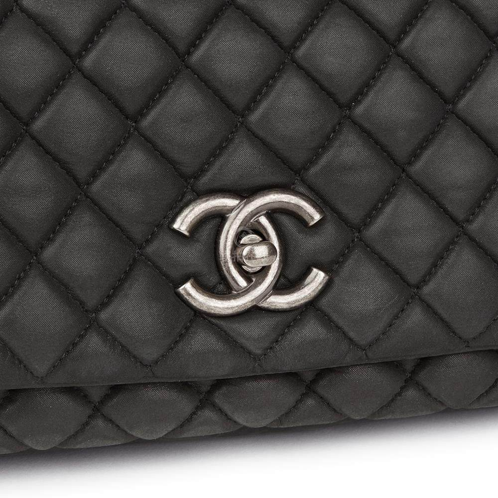 7789785c5c40 Chanel, Dark Grey Bubble Quilted Velvet Calfskin Small Bubble Flap Bag