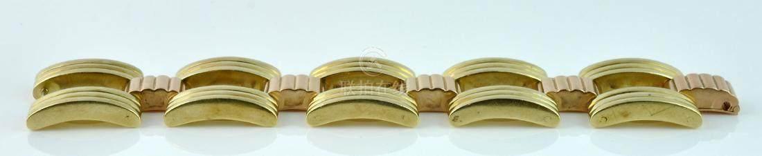 51BidLive-[Tiffany & Co  Yellow & Rose Gold Link Bracelet]