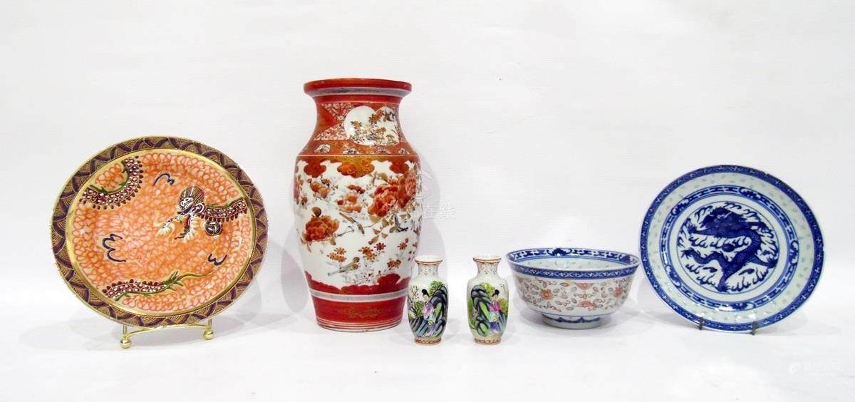 51bidlive Japanese Vase Pair Of Small Handpainted Vases And Three