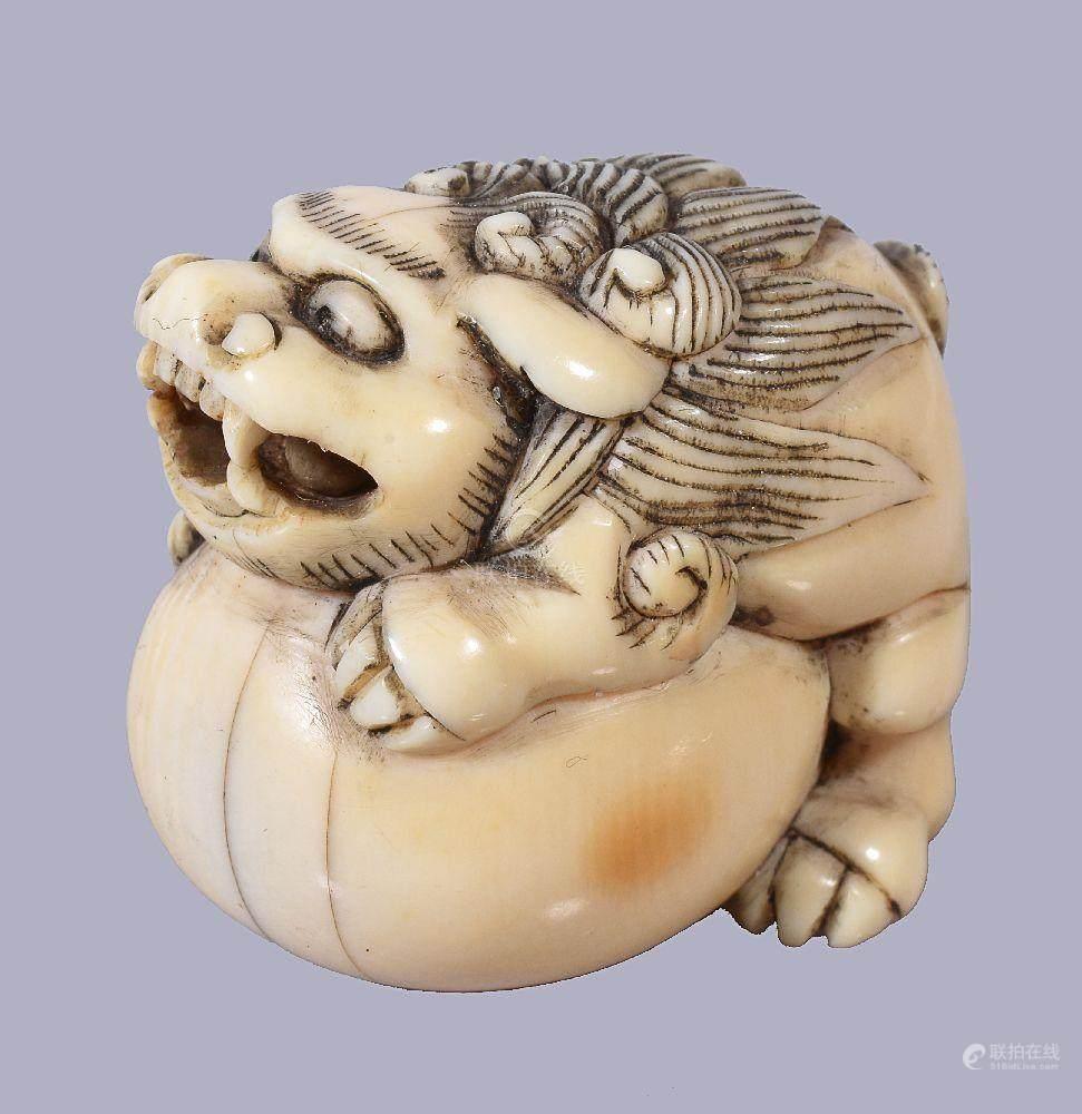 ��ϒ�ǒ�_51bidlive-[ 08 a japanese ivory netsuke of a ]