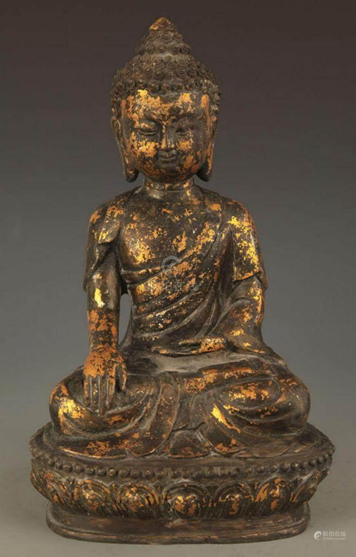 51BidLive-[TIBETAN BUDDHIST BRONZE AKSHOBHYA BUDDHA]