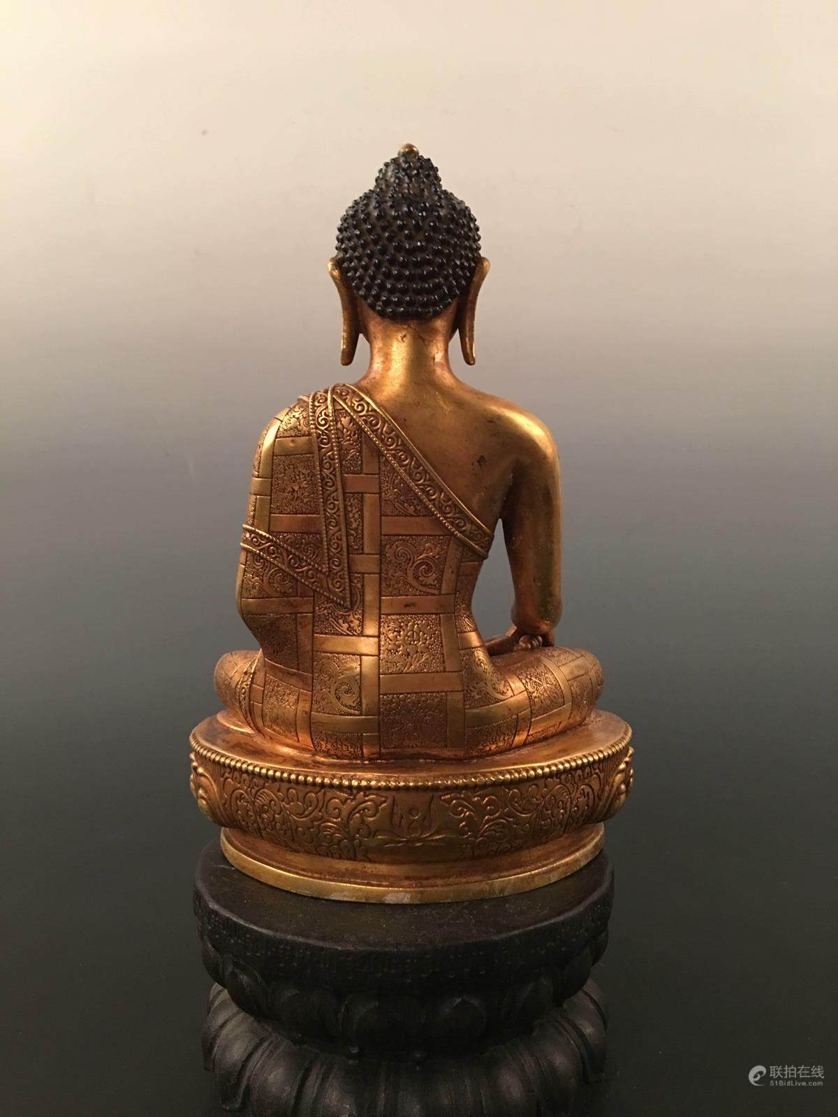 51BidLive-[Chinese Gilt Bronze Buddha Statue With Yong Le Mark]