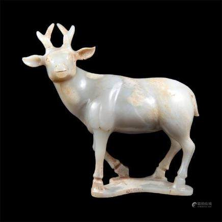Archaic Jades Carving of a Deer Qing