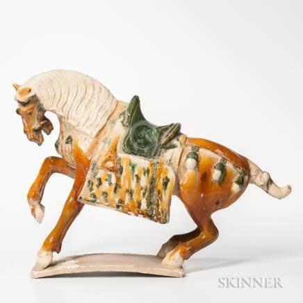 Sancai-glaze Pottery Horse