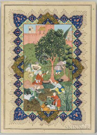 Mughal-style Miniature Painting