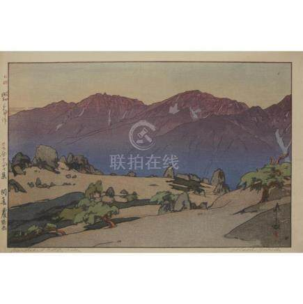 HIROSHI YOSHIDA (1876-1950), , FOUR LANDSCAPE PRINTS