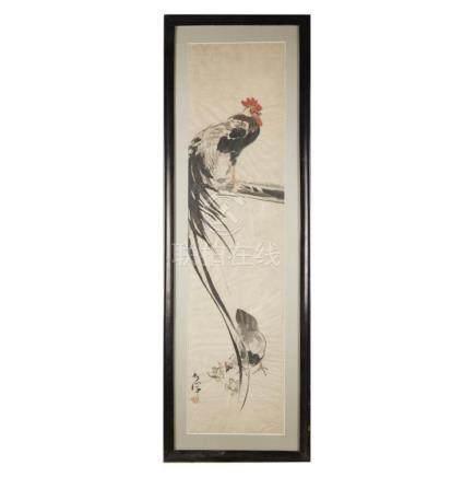 JOKON AND YAMAGUCHI SOKEN, EDO PERIOD, COCKEREL, AND PEACOCK