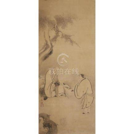 AFTER KAIHO YUSHO, , SAGES CONVERSING AND SAGES AT ARCHERY,