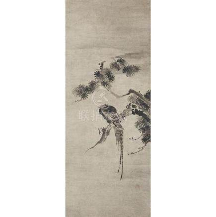 JAPANESE SCHOOL, AFTER SESSHU, , PHEASANT IN A PINE