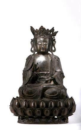 A Very large Bronze Figure Of Bodhisattva