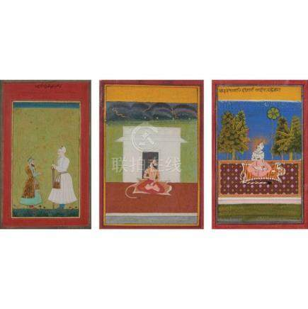 Indian School 18th/19th Century Three: a portrait of