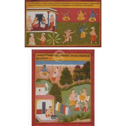 Indian School Mewar, Rajasthan, 18th century Two: an illustr