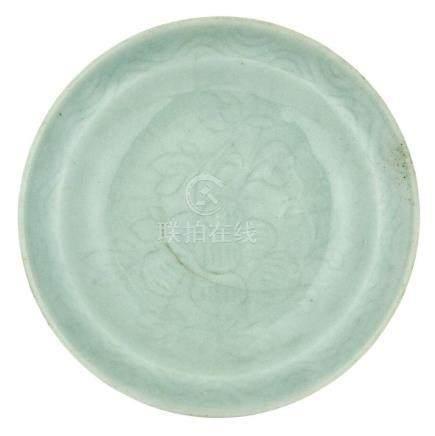 Chinese Longquan Celadon 'Kinuta' Dish