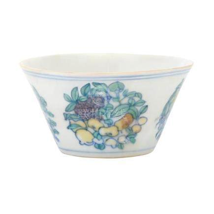 Chinese Wucai Glazed Porcelain Cup