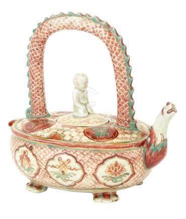 Chinese Enameled Porcelain Teapot