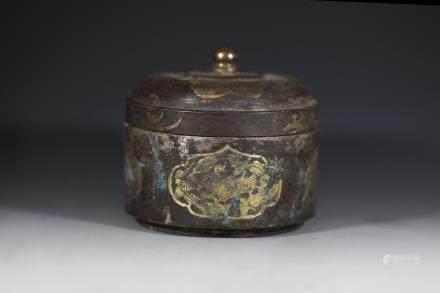 唐代 鎏金舍利圆盒