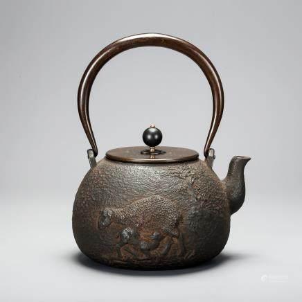 CHINESE IRON TEA POT REPUBLIC PERIOD