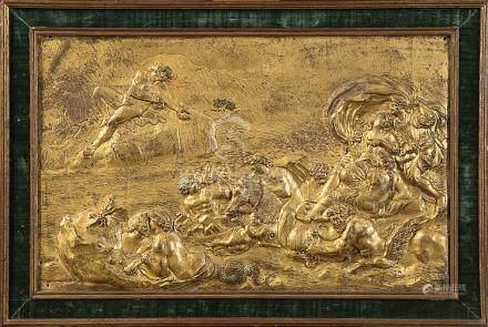 """""""Le triomphe de Neptune et Amphitrite"""" plaque décorative en"""