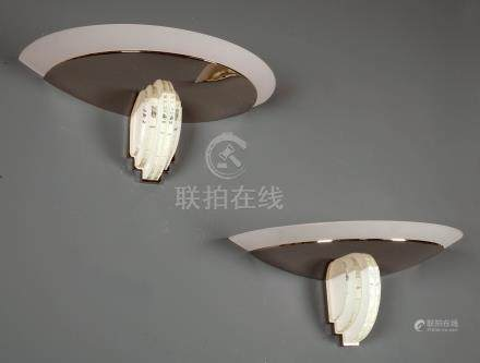519 jean perzel 1892 1986 créateur de la maison eponyme active dans la création de luminaires depuis 1923 paire dappliques art déco du modèle 542 bis
