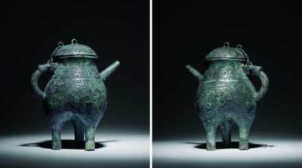 商晚期青铜饕餮纹盉