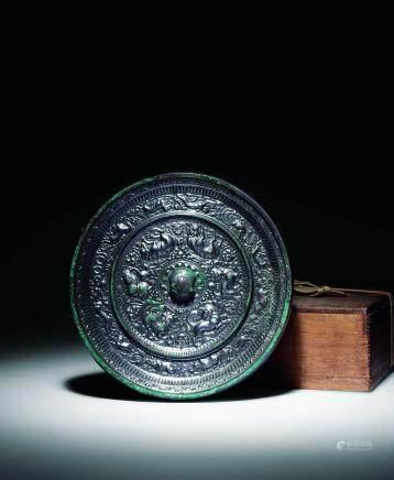 唐青铜六神兽镜