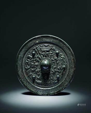 汉人物纹铜镜