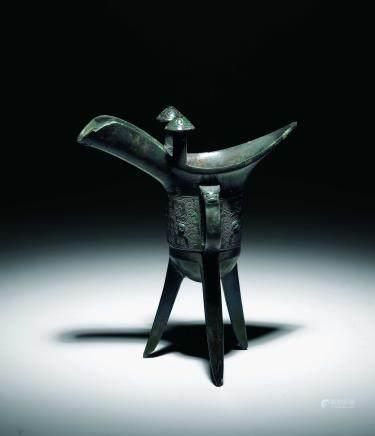 商青铜饕餮纹爵杯