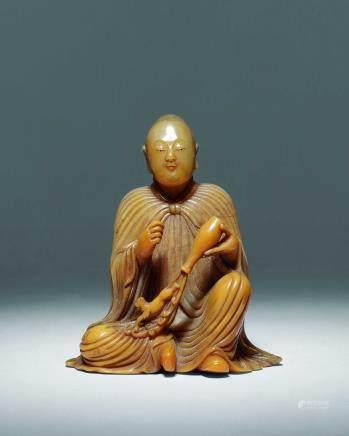 清寿山石雕罗汉像