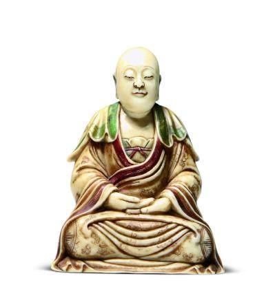清寿山石罗汉座像
