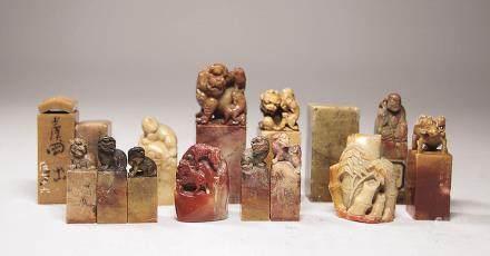清寿山石印材十六方