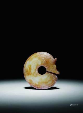 文化期古玉龙胎