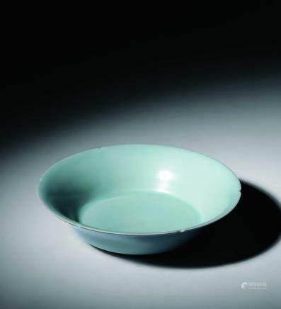 宋青瓷花口盘