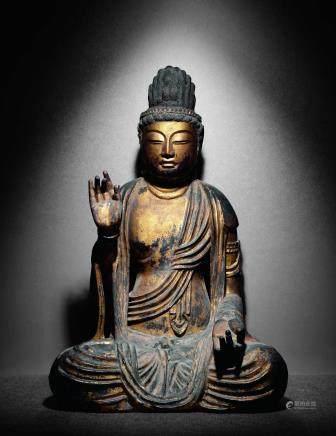 十一-十三世纪木雕金漆如来佛
