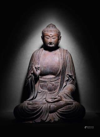 明木雕释迦牟尼座像