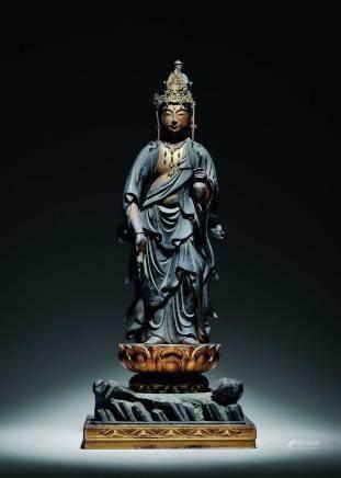 十六-十七世纪铜鎏金观音立像