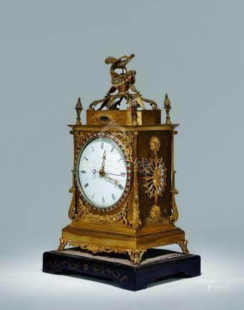 清乾隆清宮舊藏嵌寶時鐘