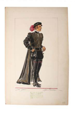 JOHN BARRYMORE DON JUAN COSTUME SKETCH