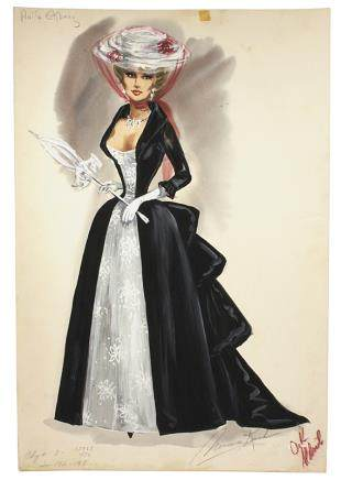 ANITA EKBERG 4 FOR TEXAS COSTUME RENDERING