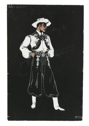 GEORGE RAFT COSTUME RENDERING