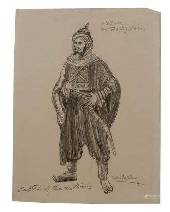 G.WAKELING COSTUME SKETCH
