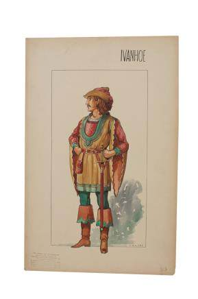 VALLES ROBERT TAYLOR IVANHOE COSTUME SKETCH