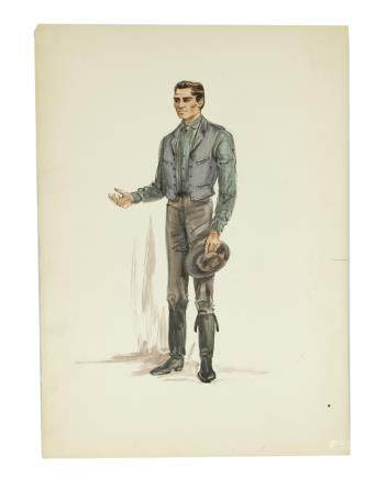 WESTERN MAN COSTUME SKETCH